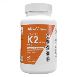 Alive Vitamins - Vitamin K2 100mcg - 50 Vegetarian Capsules