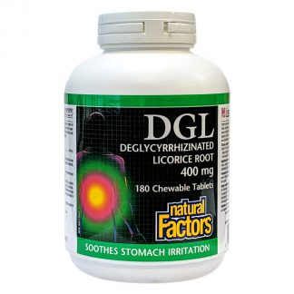Natural Factors DGL Deglycyrrhizinated Licorice Root 400mg