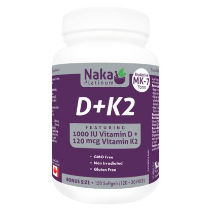 Naka Platinum D+K2 150 Softgels
