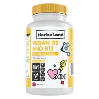 Herbaland Vegan D3 & B12 Gummies for Adults