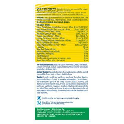 Renew Life Digest More Regular Strength 90 Vegetarian Capsules