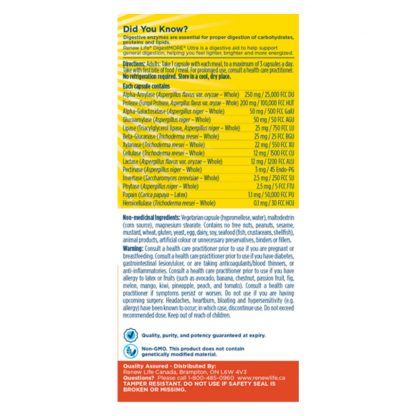 Renew Life Digest More Ultra Strength - 60 Vegetarian capsules