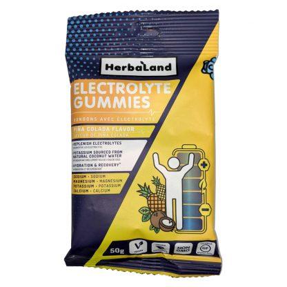 HerbaLand Electrolyte Gummies - Pina Colada Flavor