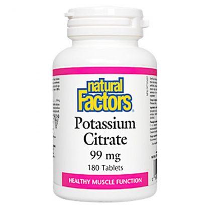 Natural Factors Potassium Citrate 99mg 180 Tablets