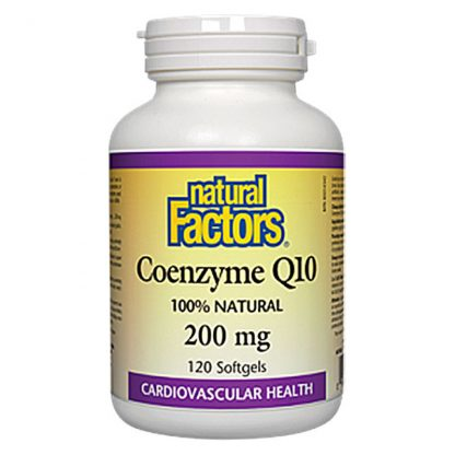 Natural Factors Coenzyme Q10 200mg 120 Softgels