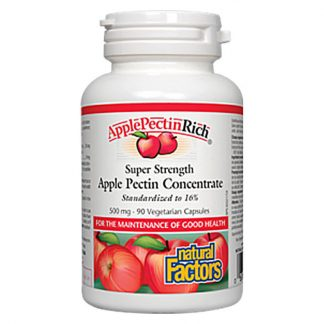 Natural Factors ApplePectinRich Super Strength Apple Pectin Concentrate 500mg 90 Vegetarian Capsules