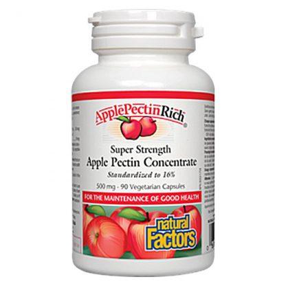 Natural Factors ApplePectinRich Super Strength Apple Pectin Concentrate 500mg 90 Vegetarian Capsules