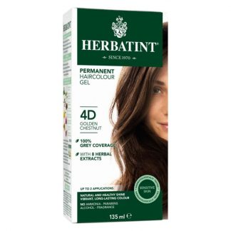 Herbatint® Permanent Hair Color | 4D Golden Chestnut